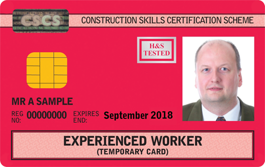 Experienced Worker Card (Red)