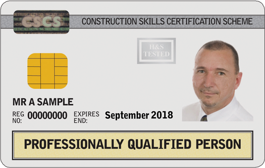 Professionally Qualified Person Card (White)