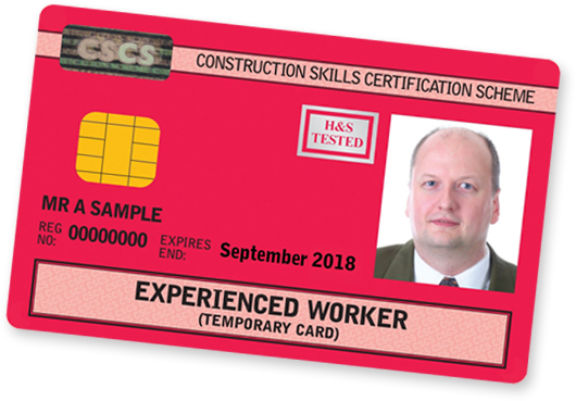 CSCS Red Experienced Worker Card